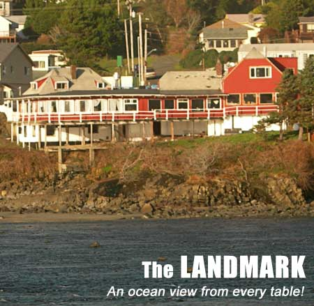 The Landmark Restaurant in Yachats, OR -- an ocean view from every table!